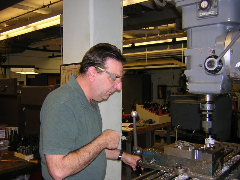 Larry Antal in the Machine Shop.