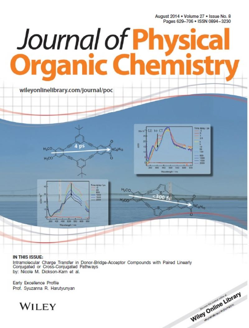Journal of Physical Organic Chemistry Cover - Nicole Karn